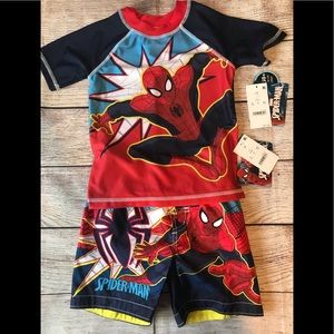 Spider-Man swim top & trunks boy's 2T and 3T